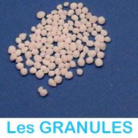 Engrais sous forme de granules