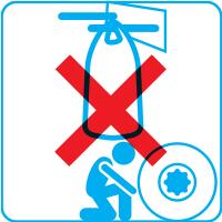Ne pas circuler et stationner sous un big bag relevé